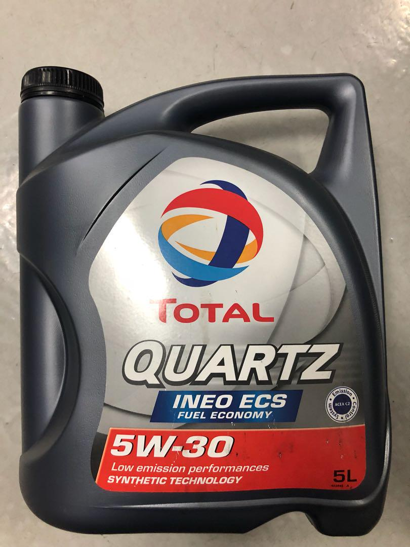 Total Quartz INEO ECS 5W30 - 5L, Car Accessories