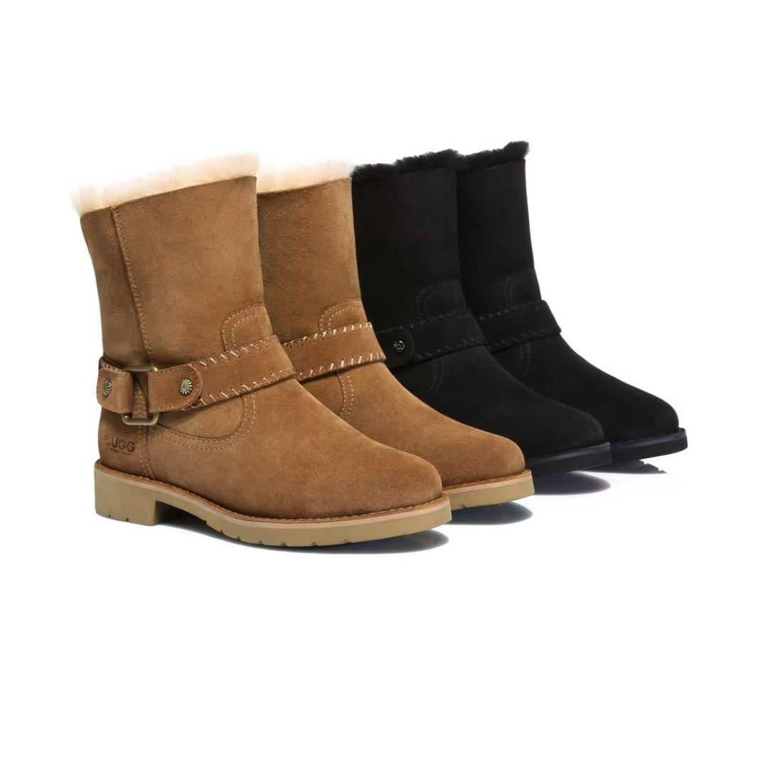 7c1018fc5b2 UGG Ladies Fashion Boots Sarah - Sheepskin lining and Insole, Suede ...
