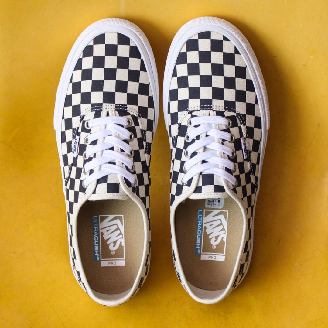 e4d6987c09 VANS AUTHENTIC PRO CHECKERBOARD NAVY ULTRACUSH US8