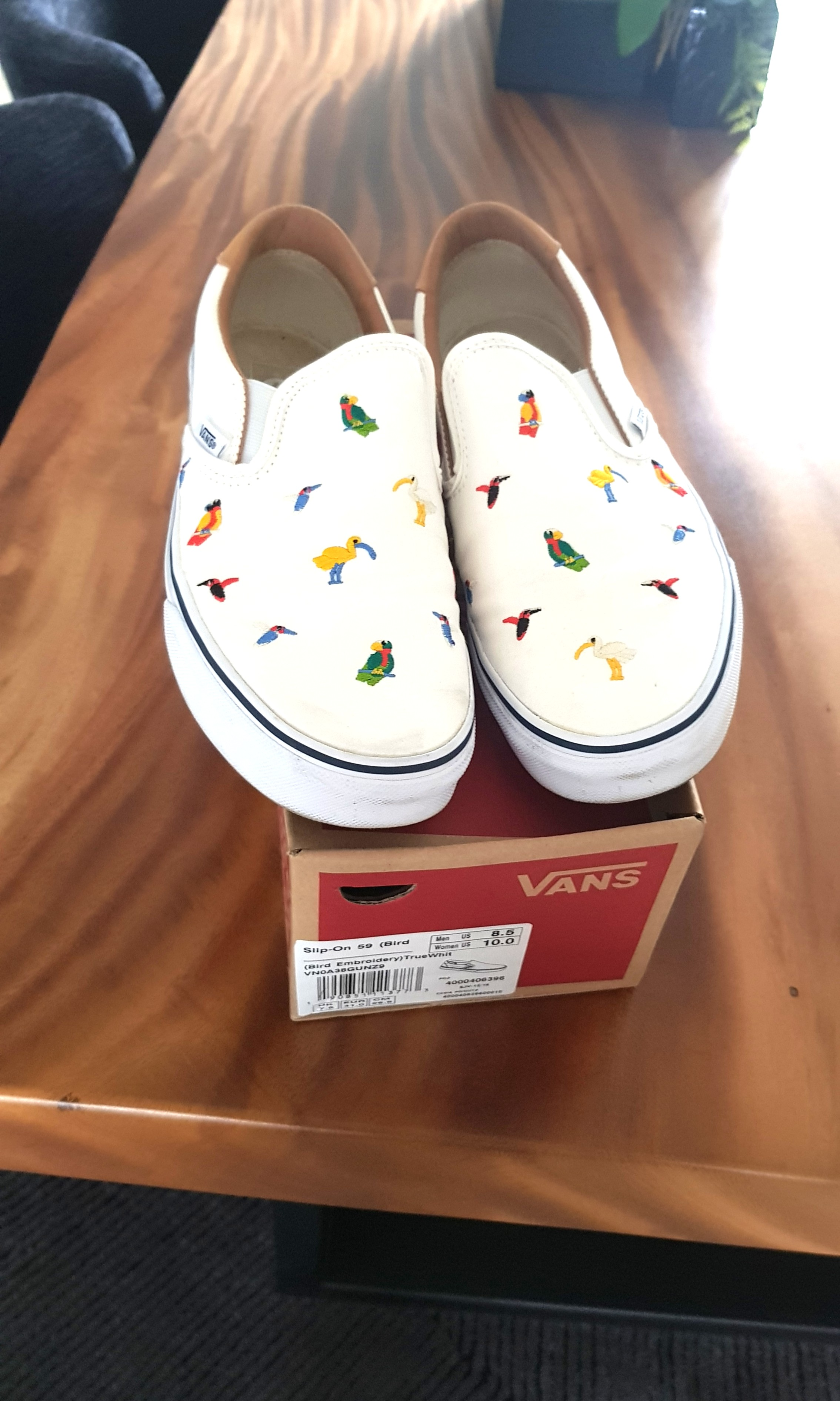 9226e26f1dd Vans Slip-Ons (Bird Embroidery)