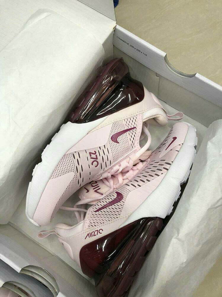 premium selection b73de 29e48 SALE!!! WOMEN'S NIKE AIRMAX 270 in BARELY ROSE & VINTAGE WINE