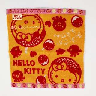 🚚 現貨 日本製 大阪限定 Hello Kitty 章魚燒 毛巾 手帕 OSAKA