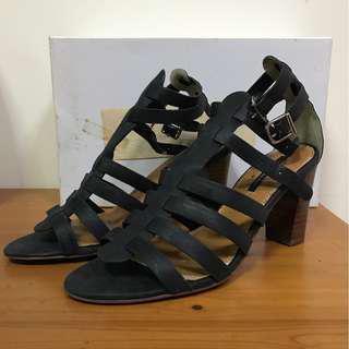 Tony Bianco Black Gladiator Heels