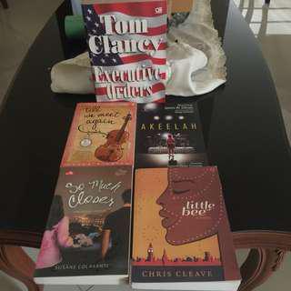 Buku novel sastra dan non sastra