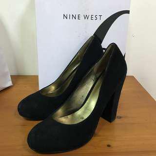 Nine West Black Chunky Heels