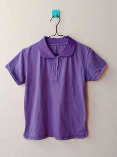 Preloved kaos kerah ungu