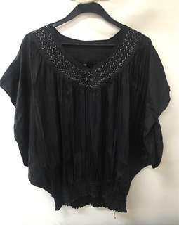 Black blouse PLUS size