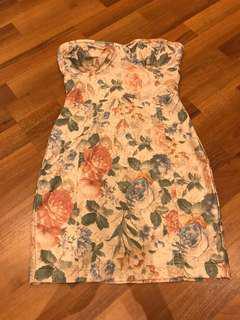 Topshop bandeau dress