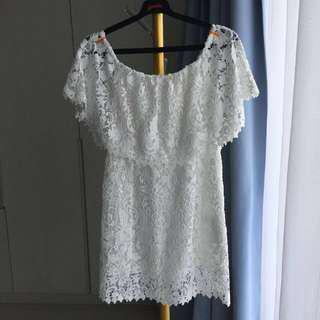 ZARA WHITE CROCHET DRESS (1Xpakai) #onlinesale