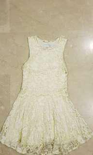 Laced Dress - Off white