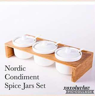 Brand New Scandinavian White Ceramic Canister Set