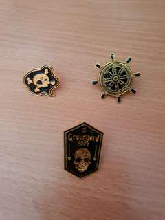 🚚 Aesthetic Pirate Theme Enamel Pins