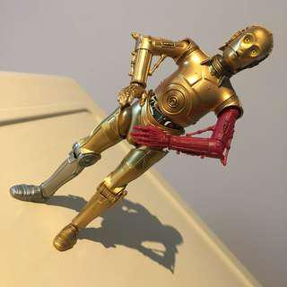 "6"" Star Wars Black Series C3P0 c3po junkyard version"