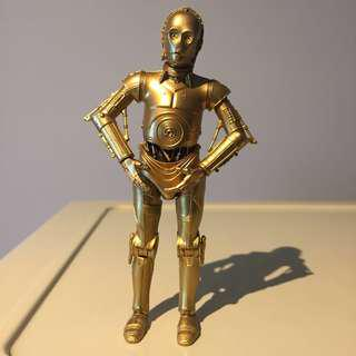 "Star Wars 6"" Black Series C3P0 c3po pure gold color version"