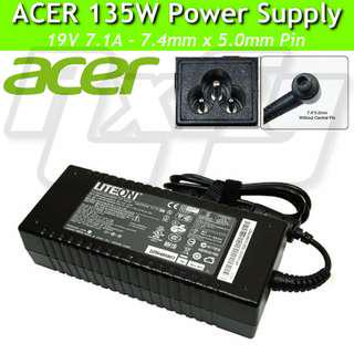 ACER ORIGINAL 135W Power Adaptor Charger AC Supply 7.4 x 5mm aspire veriton all in one