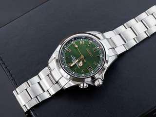 Seiko Alpinist SARB017 JDM Watch, with strapcode metal strap oyster bracelet