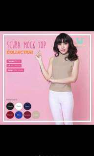 Scuba Mock Top Cream