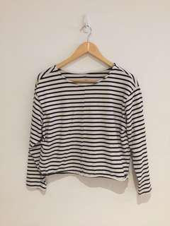 H&M Striped Long-Sleeved Top - Small-Med