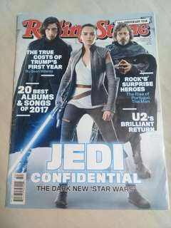 Star Wars Combo: The Last Jedi - Rolling Stone Mag Dec 2017 & John Boyega - GQ Mag Aug 2017