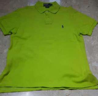 Authentic BN Ralph Lauren Small Pony Polo Tshirt Lime Green