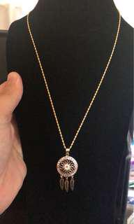 18ct gold dream catcher necklace
