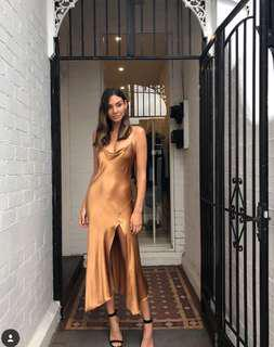 STUNNING Bec and Bridge golden slip dress