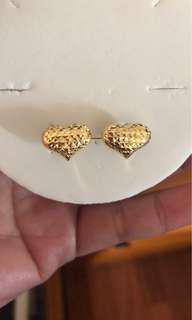 18ct gold heart earrings