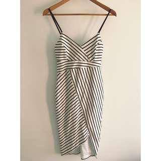 Bardot stripe dress