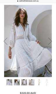 Spell Olivia Lace Luxe Gown white