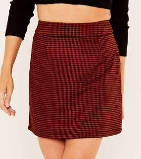 BNWT RED CHECK SKIRT RRP$40