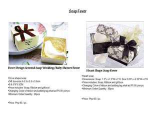 Soap favor for your special events