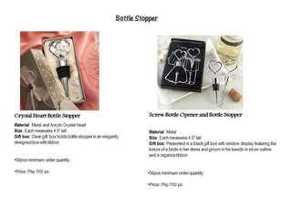 Bottle Opener for Special Events Souvenir
