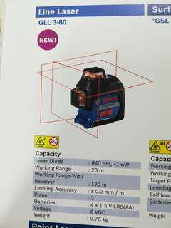 Bosch GLL 3-80 Line Laser With BT150 Tripod
