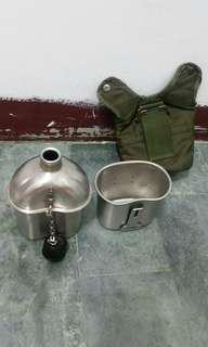 空軍 不鏽鋼水壺 含水壺套