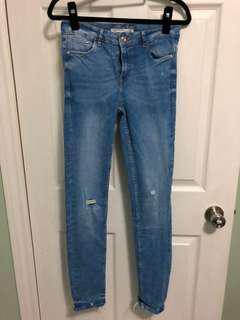 Zara Trafaluc denim makers pants