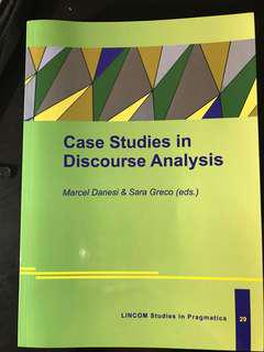 ANT253 BRAND NEW: Case Studies in Discourse Analysis - Marcel Danesi