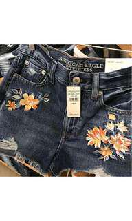 Embroided Short