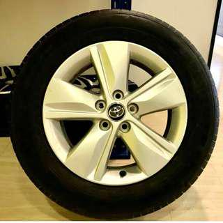"Original Toyota Harrier 17"" Rims with Tyres"