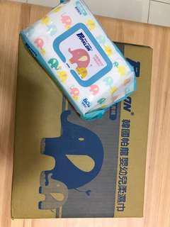🚚 【Parklon】韓國帕龍嬰幼兒柔濕巾 加厚款-箱購(12包 / 80pcs)