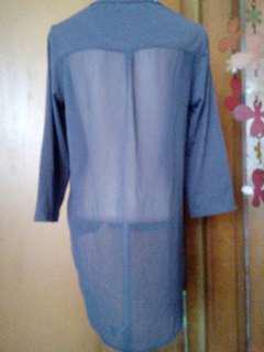 atasan casual t-shirt transparant back