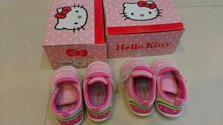 #716201台灣製造Hello Kitty凱蒂貓粉色14cm童鞋九成新學步鞋
