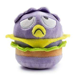 Sanrio Kidrobot plush burger key chain XO badtz maru