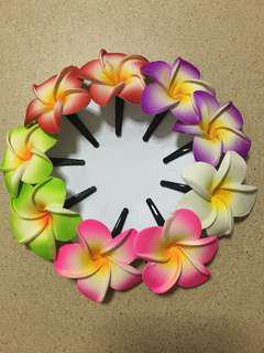 Assorted Color Flower Hair Clips - Small