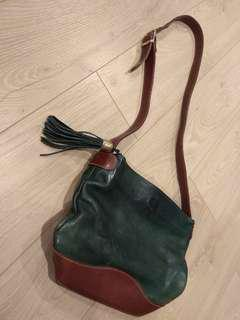 Vintage Emerald Tassel Crossbody Shoulder Bag
