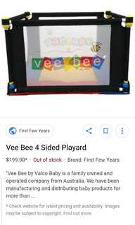 vee bee four 4 sided play yard