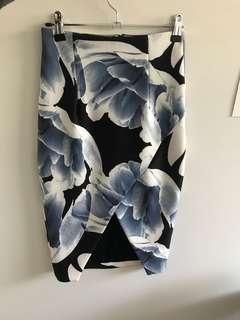 Kookai blue and white skirt