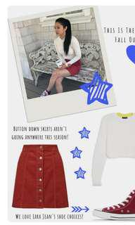 Denim skirt (worn by Lara Jean)