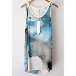 JOSH GOOT Watercolour Silk Dress Size Small