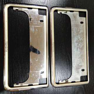 FRAME PLATE TOYOTA GOLD