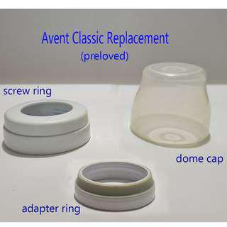 Avent Classic Replacement Dome Cap Screw Ring Adapter Ring Preloved